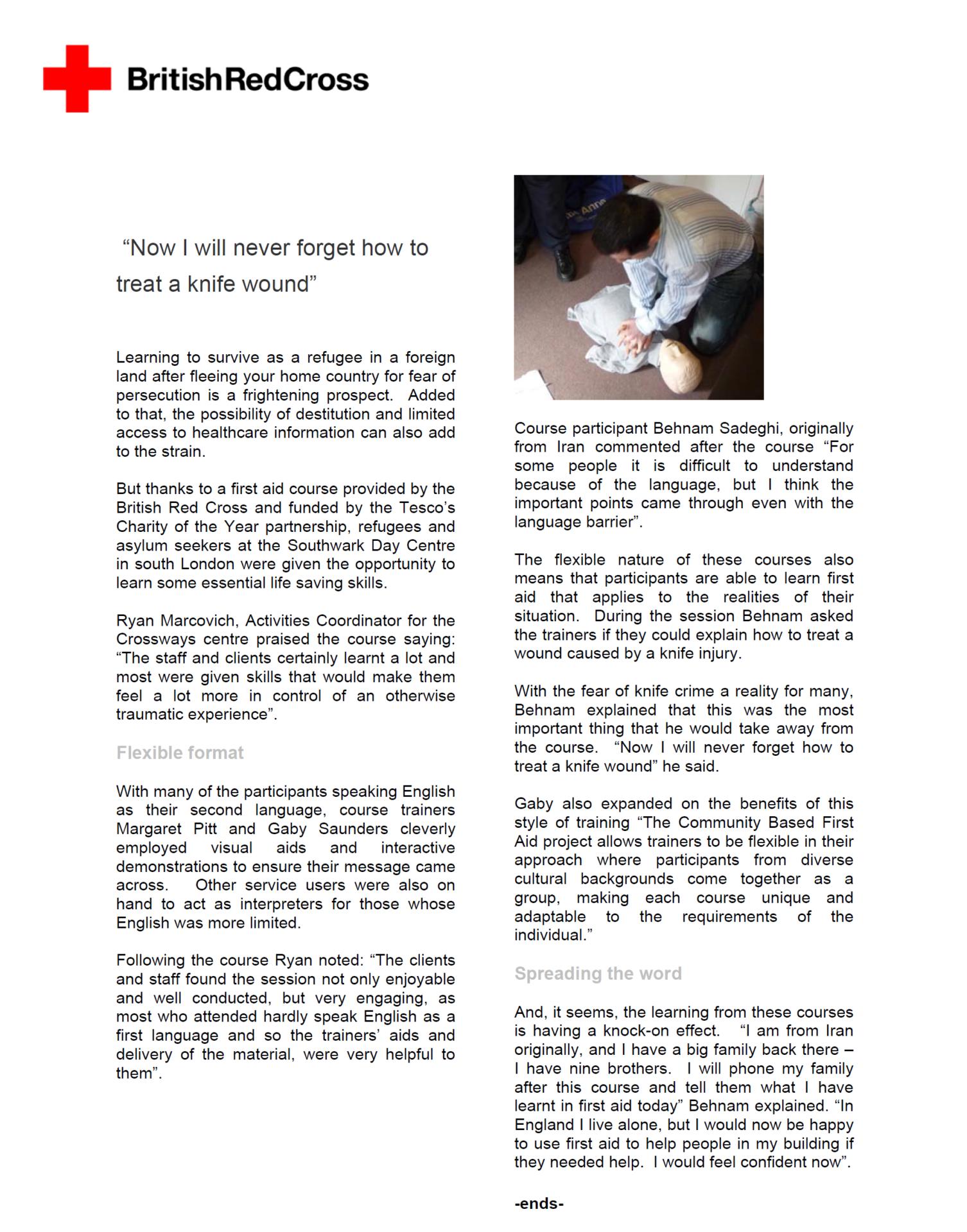 British Red Cross Impact Story 2